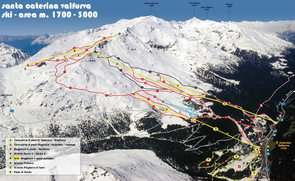 Santa Caterina ski map